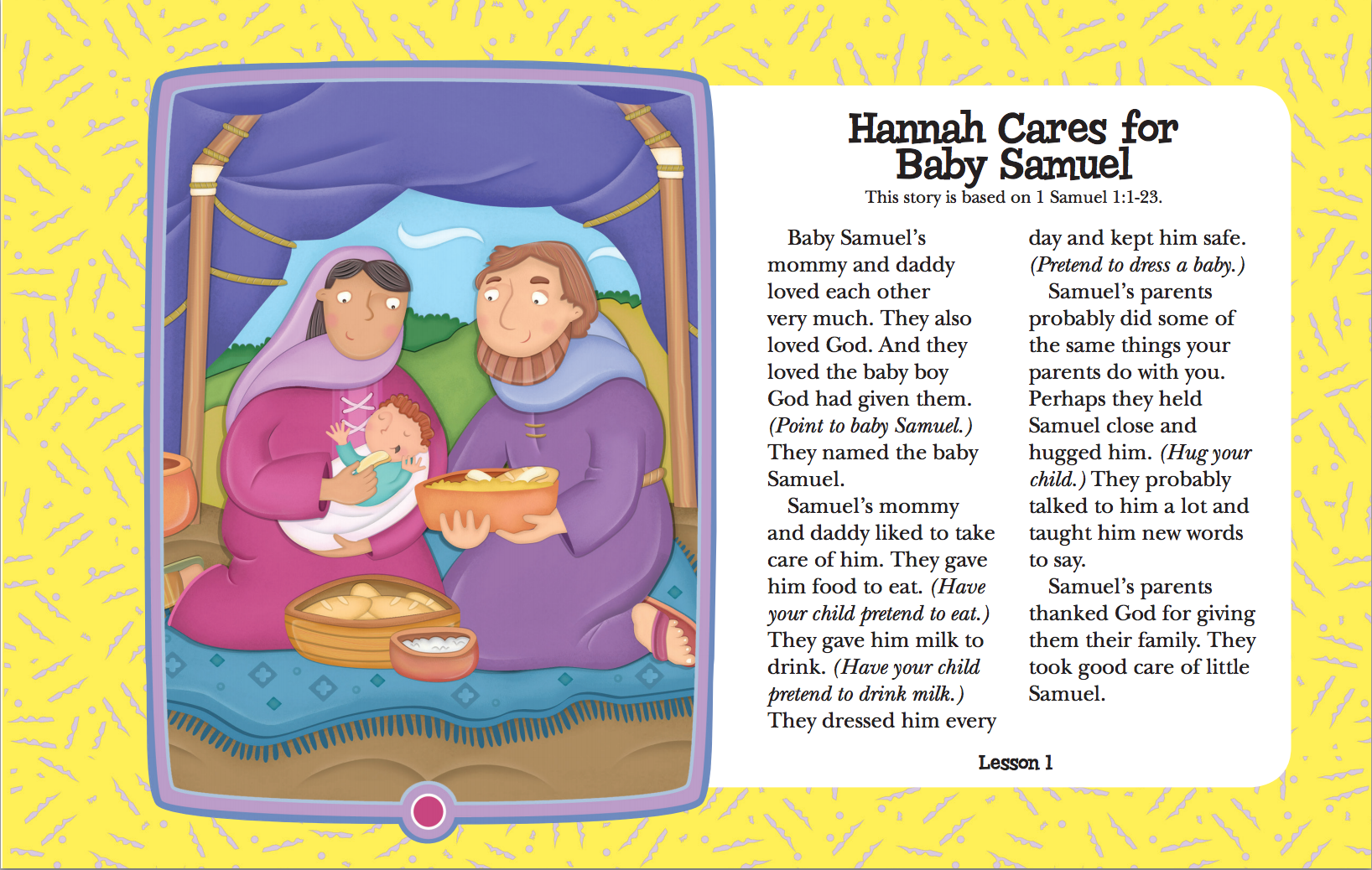 My Sunday Pictures Hannah Cares for Baby Samuel | BIL Preschool ...