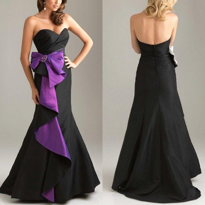 Purple black and white dress