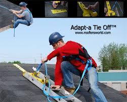 Adapt A Tie Off For Roof Ladder And Safety Harness