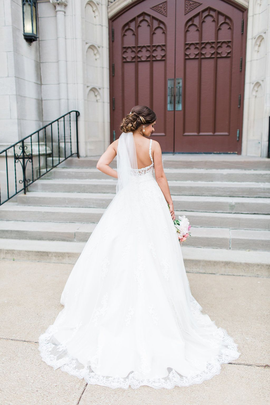 Elegant Blush Wedding with a Touch of Glam and Ballgown   Ballgown ...