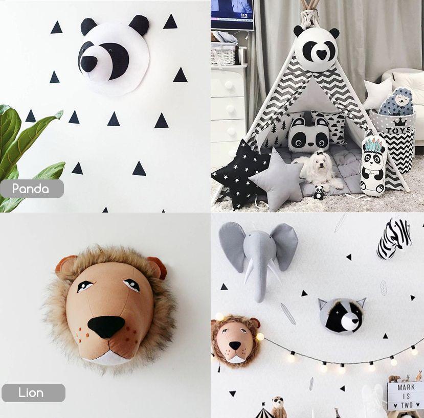 Animal Head Wall Decor Safari Nursery Decor For Kids Room