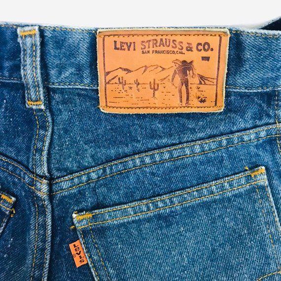 Rare Levis Orange Tab Vtg Denim Jeans 26w 32l Size 9 High Etsy In 2020 Levi Salvage Denim Lewis Jeans