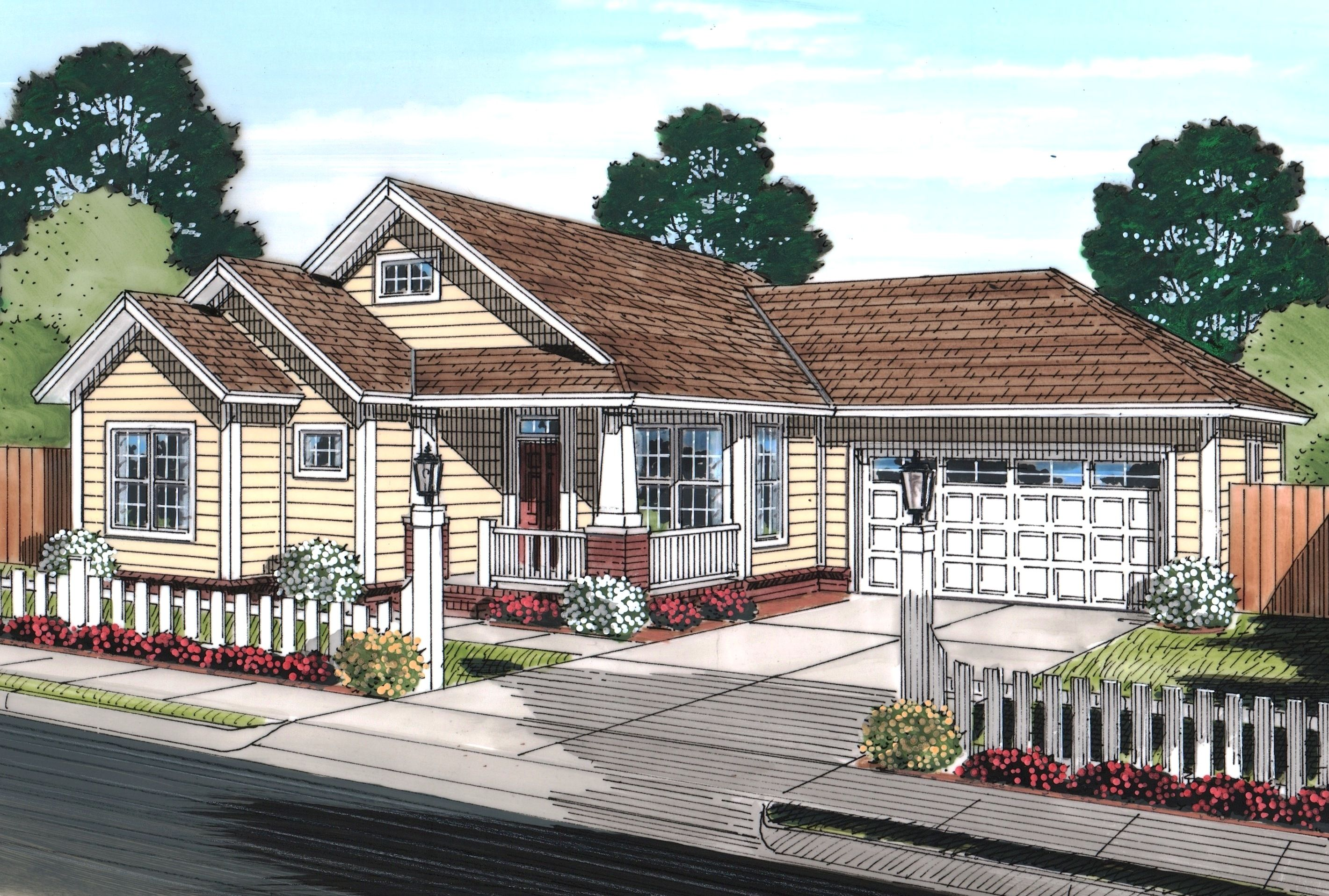 Plan 52230wm Cozy Cottage In 2021 Cottage Style House Plans Cottage House Plans Craftsman Style House Plans