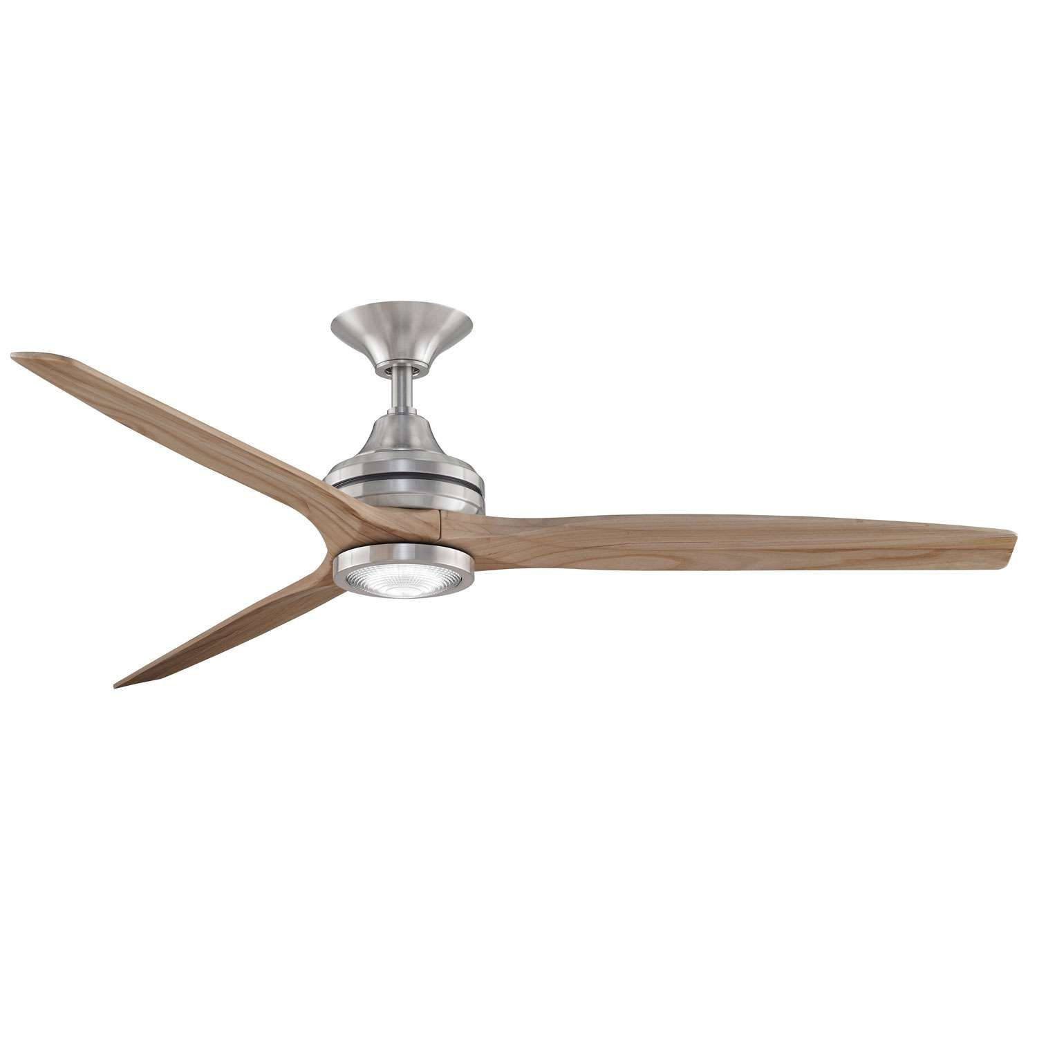 "52"" Windspun Walnut Nickel DC Ceiling Fan"