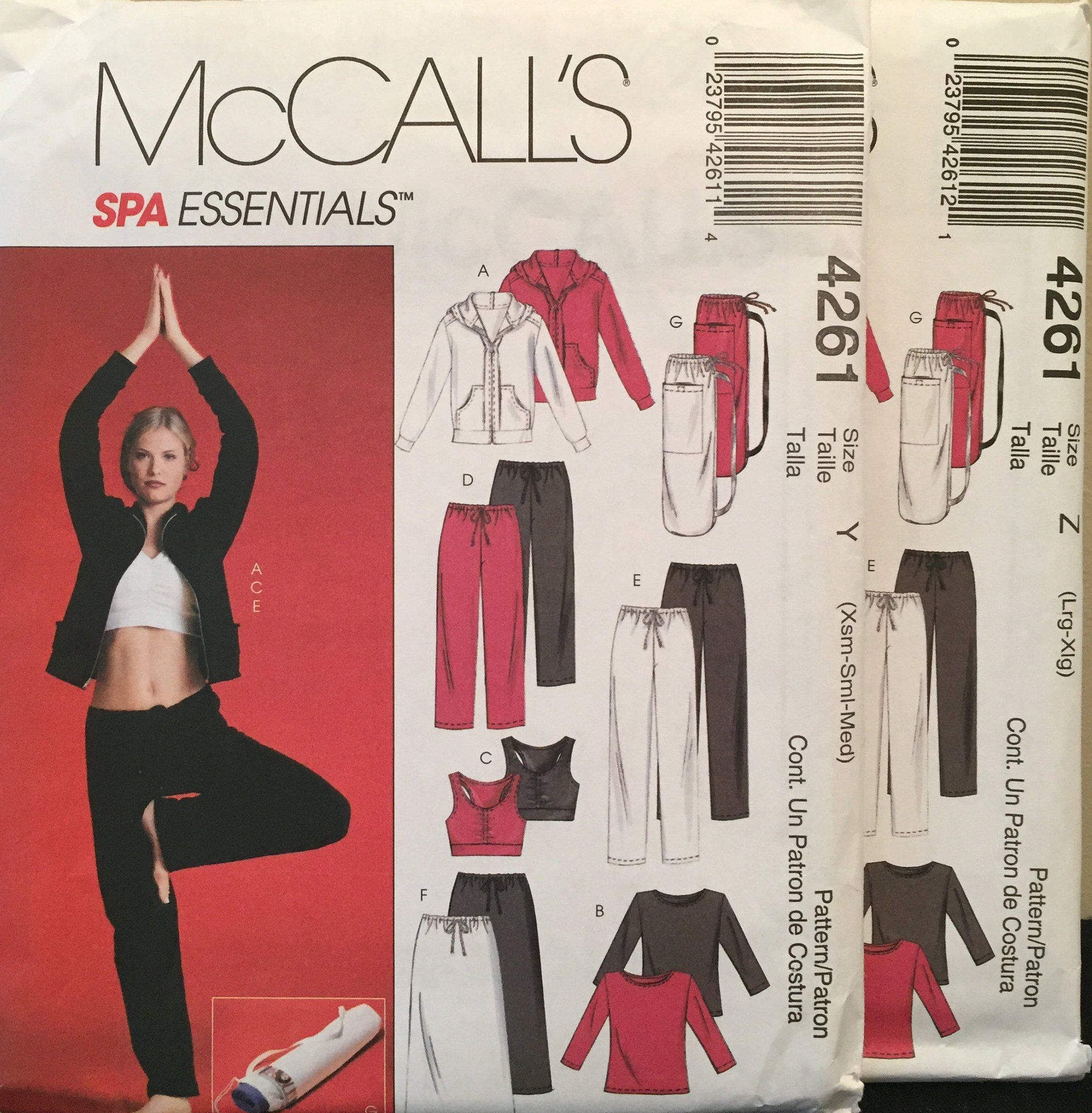 Yoga Mat Bag · Sewing Patterns · Excited to share the latest addition to my   etsy shop  McCall s Spa Essentials ZipJacketT c6ccf95aa472f