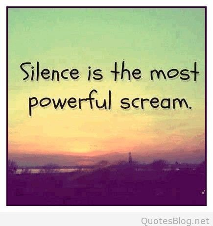 quotes about silence tumblr - photo #49