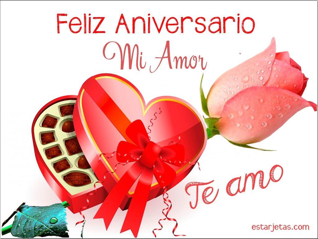 Feliz Aniversario Mi Amor Te Amo Imagenes De Estarjetas Com