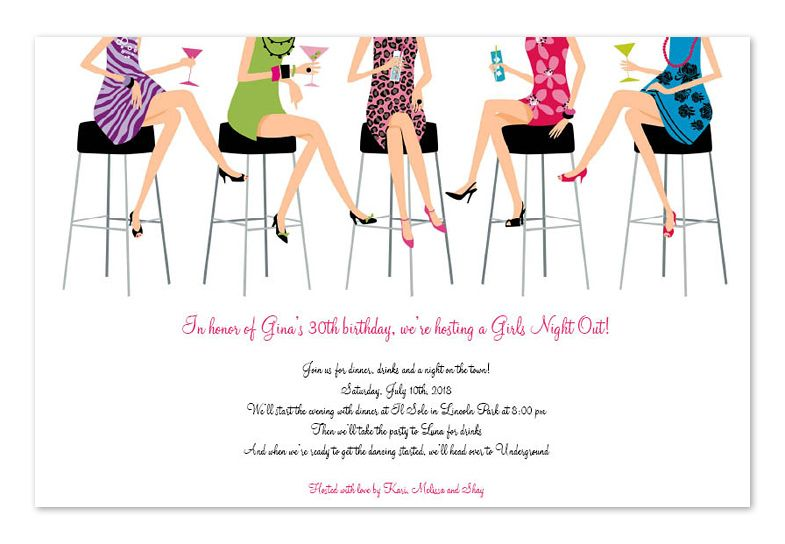 Ladies Luncheon Invitation Wording 50th Ladies Night Ladies
