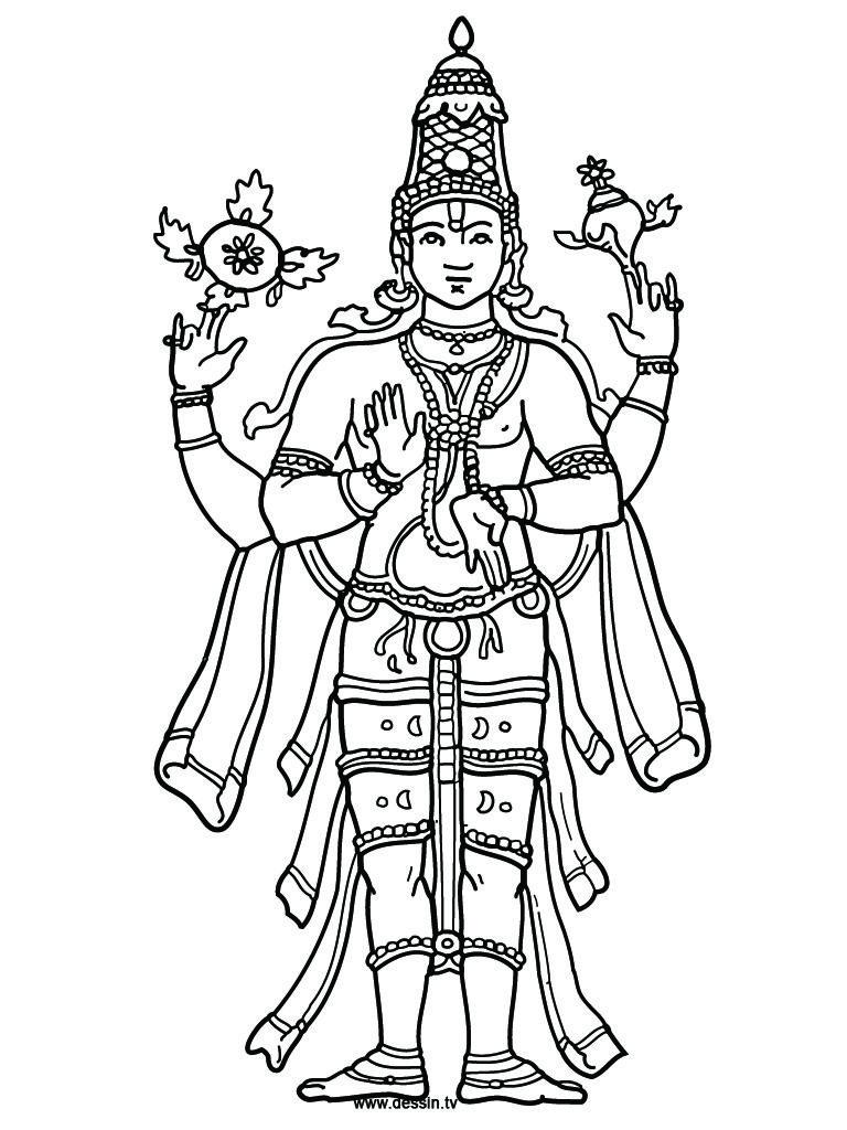 Coloring Vishnu Vishnu Coloring Pages God Art