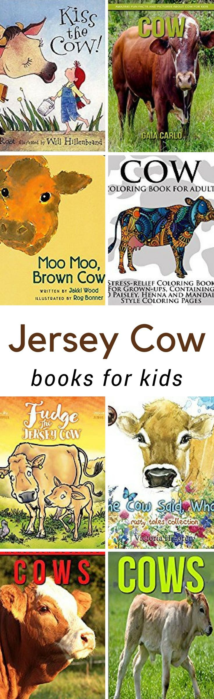 Books about the jersey cow for children animal books