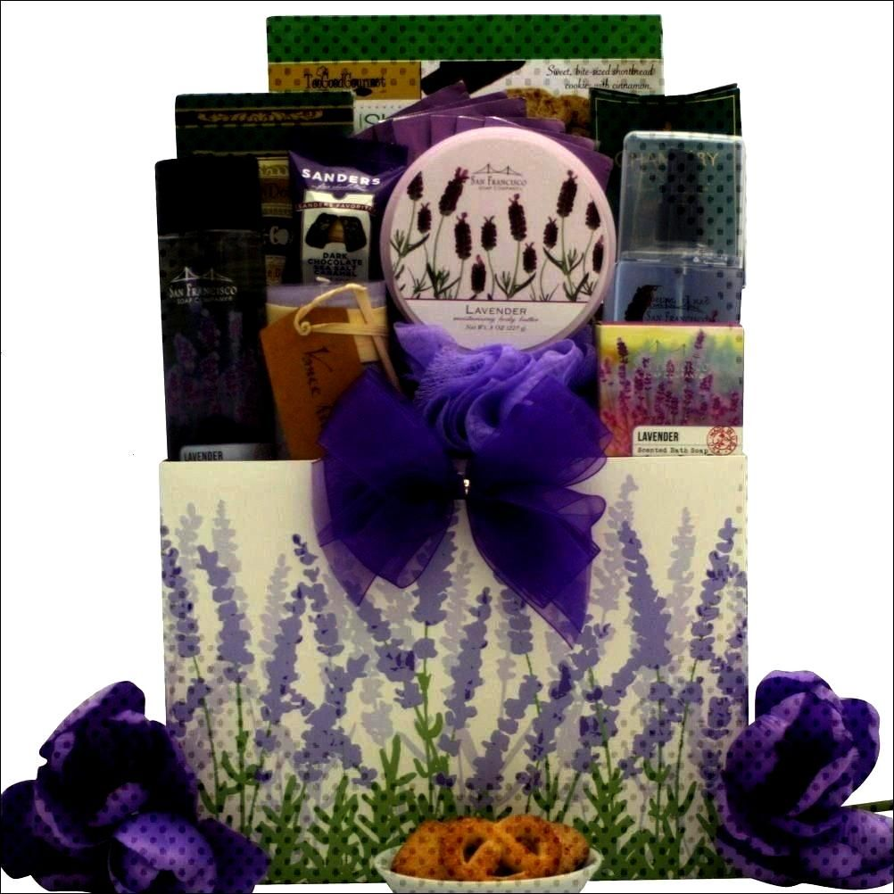 Pleasures: Mother's Day Bath & Body Spa Gift Basket -Lavender Spa Pleasures: Mother's Day Bath & Bo