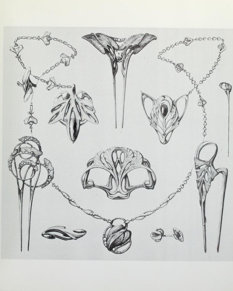 Art Nouveau Jewelry Designs By Rene Beauclair Welcome To Dover Publications Excerpt 1 Art Deco Jewelry Art Nouveau Jewelry Art Nouveau Design