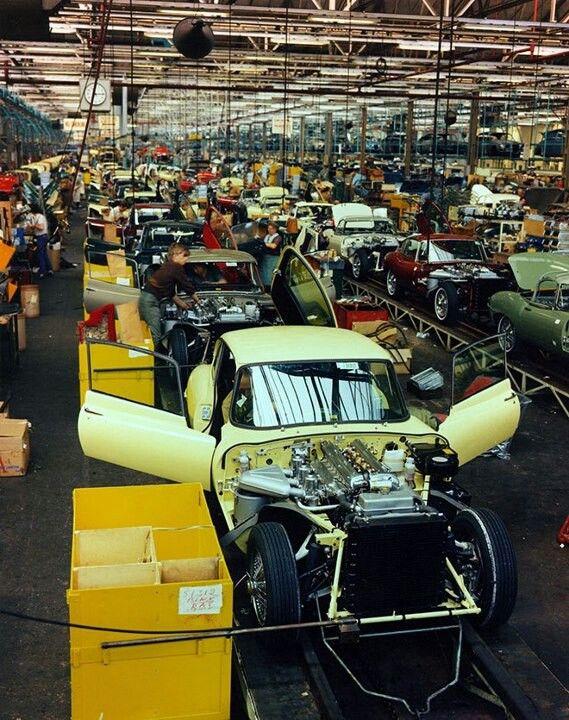 Jaguar E type production line