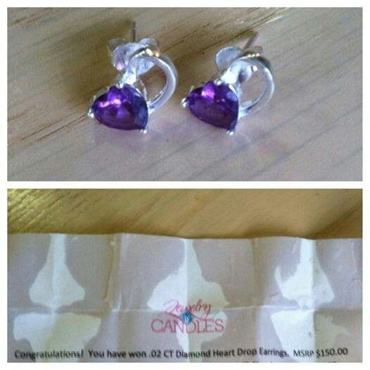 This is an example of earrings arriving in Jewelry in Candles. As the letter states they are worth $150!!