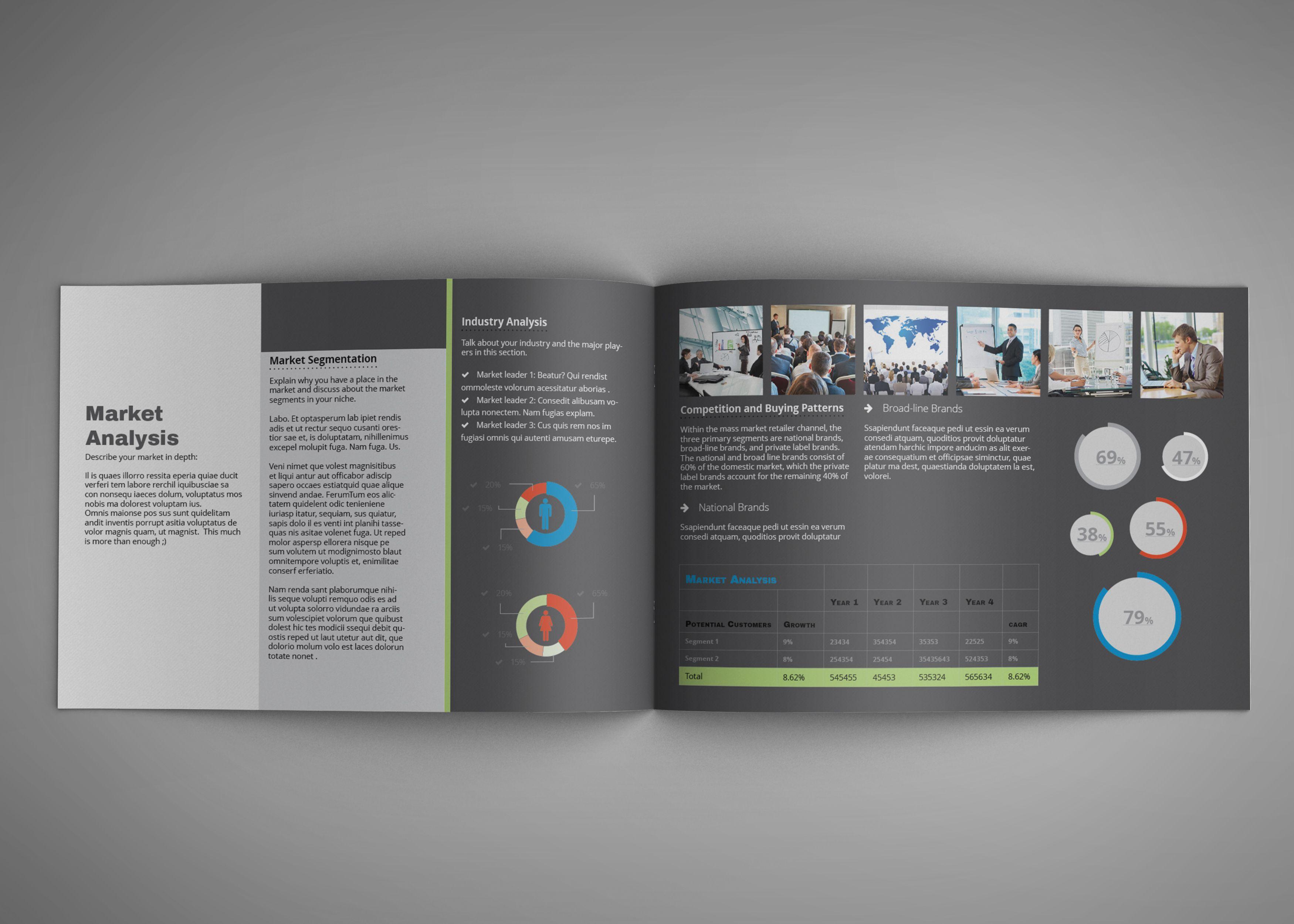 Quick Business Plan Template / Elevator Pitch – A4 Landscape ...