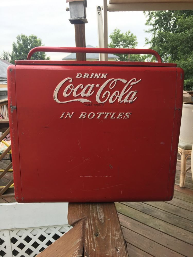 Vintage Coca Cola Coke Cavalier Picnic Cooler Opener Soda Pop Advertising