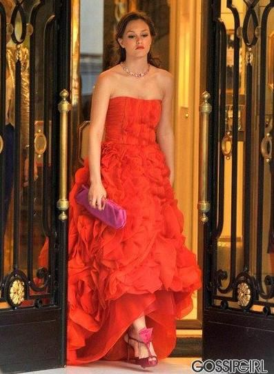 Normally, I don't like pink and red together, but she looked so beautiful. 4.2 #Blair Waldorf #Gossip Girl