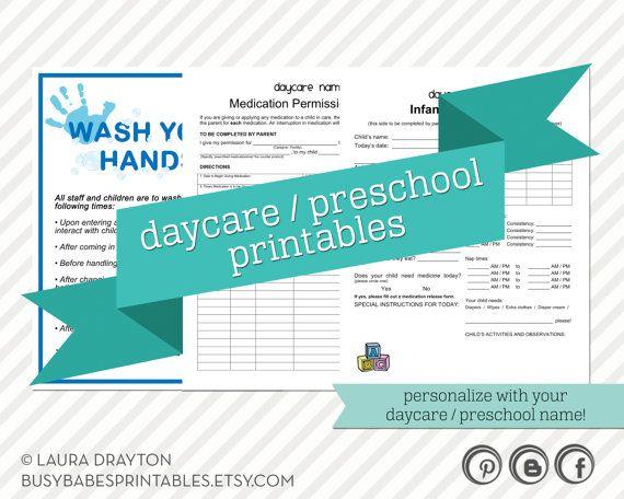 daycare lady printables