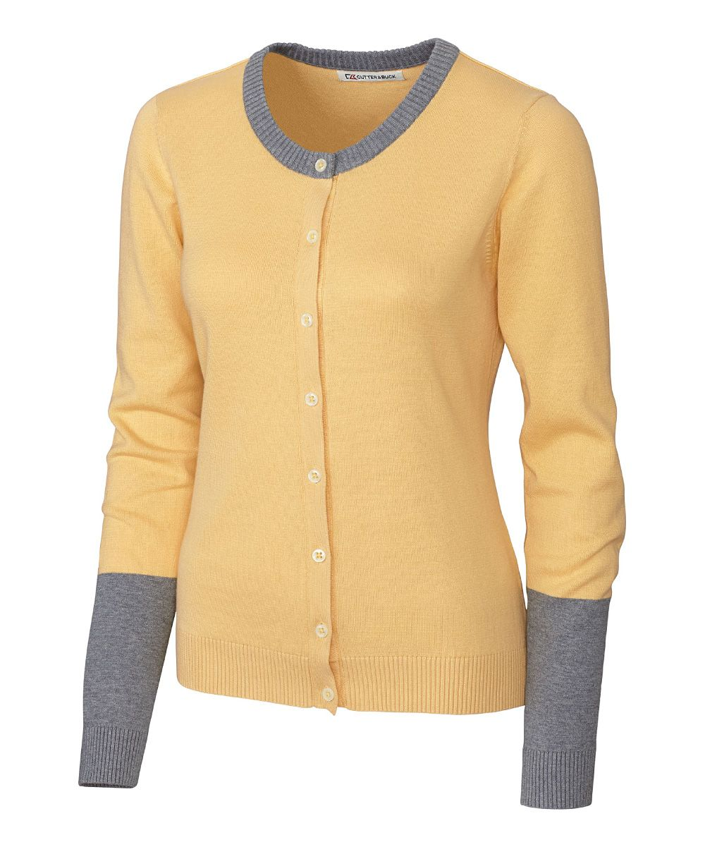 Yellow & Gray Color Block Curriculum Cardigan | Products ...