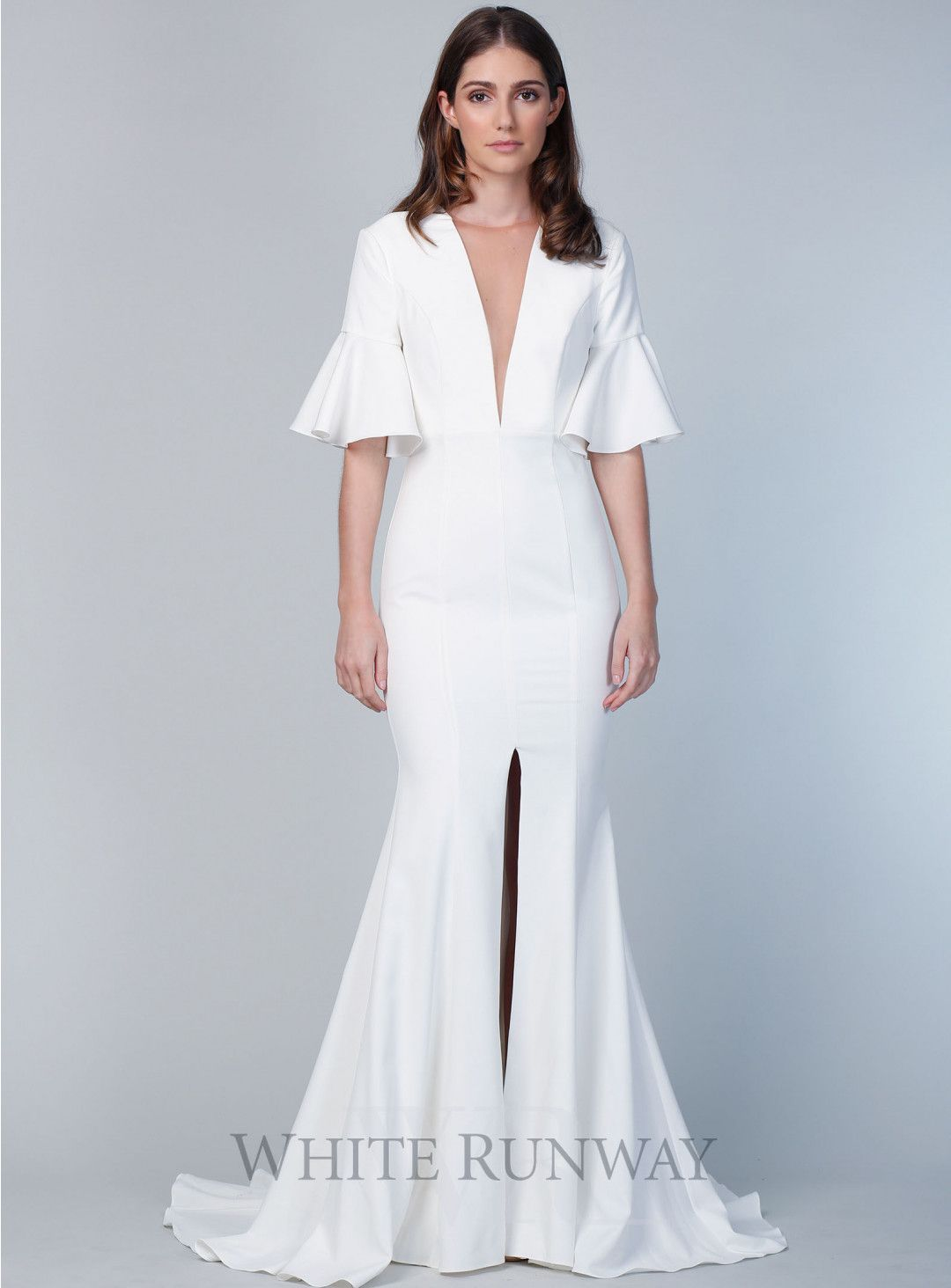Martinique gown a chic full length gown by sofia cali a high neck
