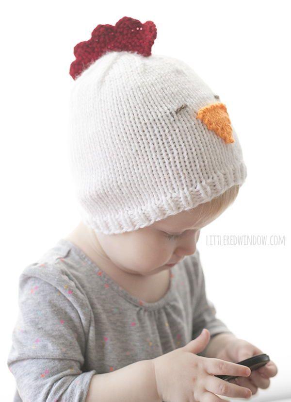 Little Chicken Knit Hat | Knitting | Pinterest | Gorros, Tejido y ...