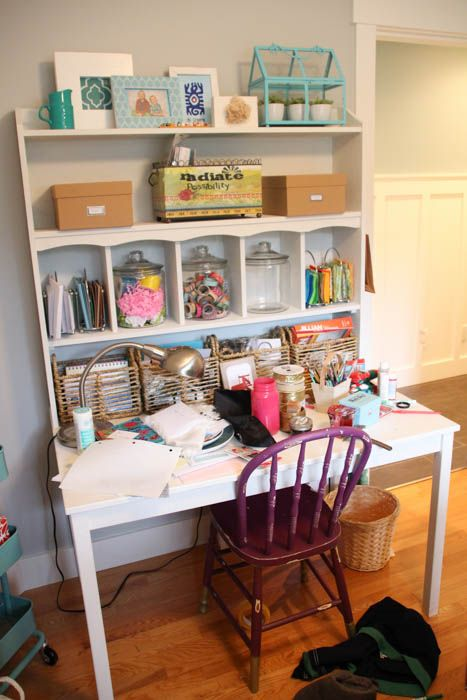 My Horrendously Messy Craft Room Before One Room Challenge Week