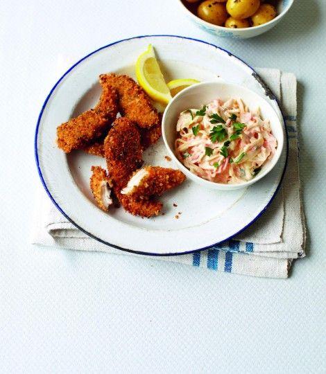 Cheats Chicken Goujons Recipe Chicken Goujons Delicious