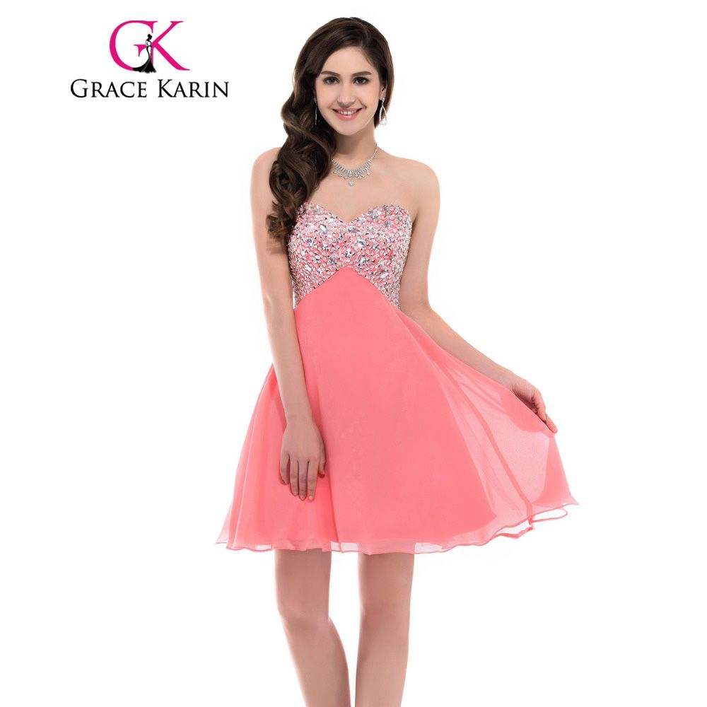Click to Buy << Grace Karin Short Prom Dress 2017 Sweetheart Pink ...