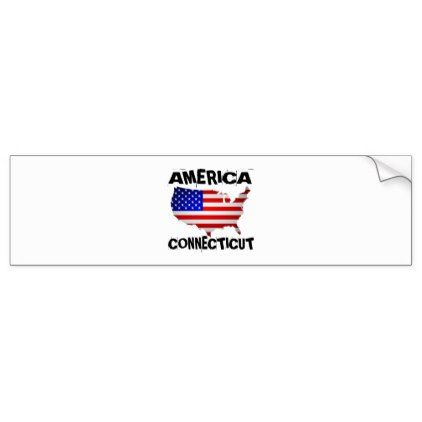 Connecticut american state designs bumper sticker diy cyo customize create your own personalize