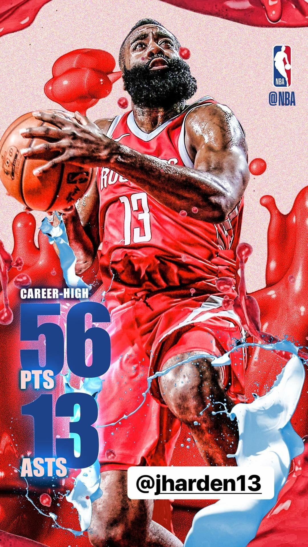 James harden career high nba sports nba nba basketball