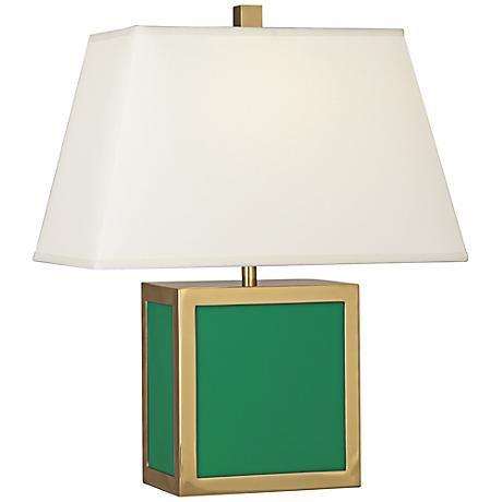 Jonathan adler 19 1 2h barcelona emerald green accent lamp 7v788 lamps plus