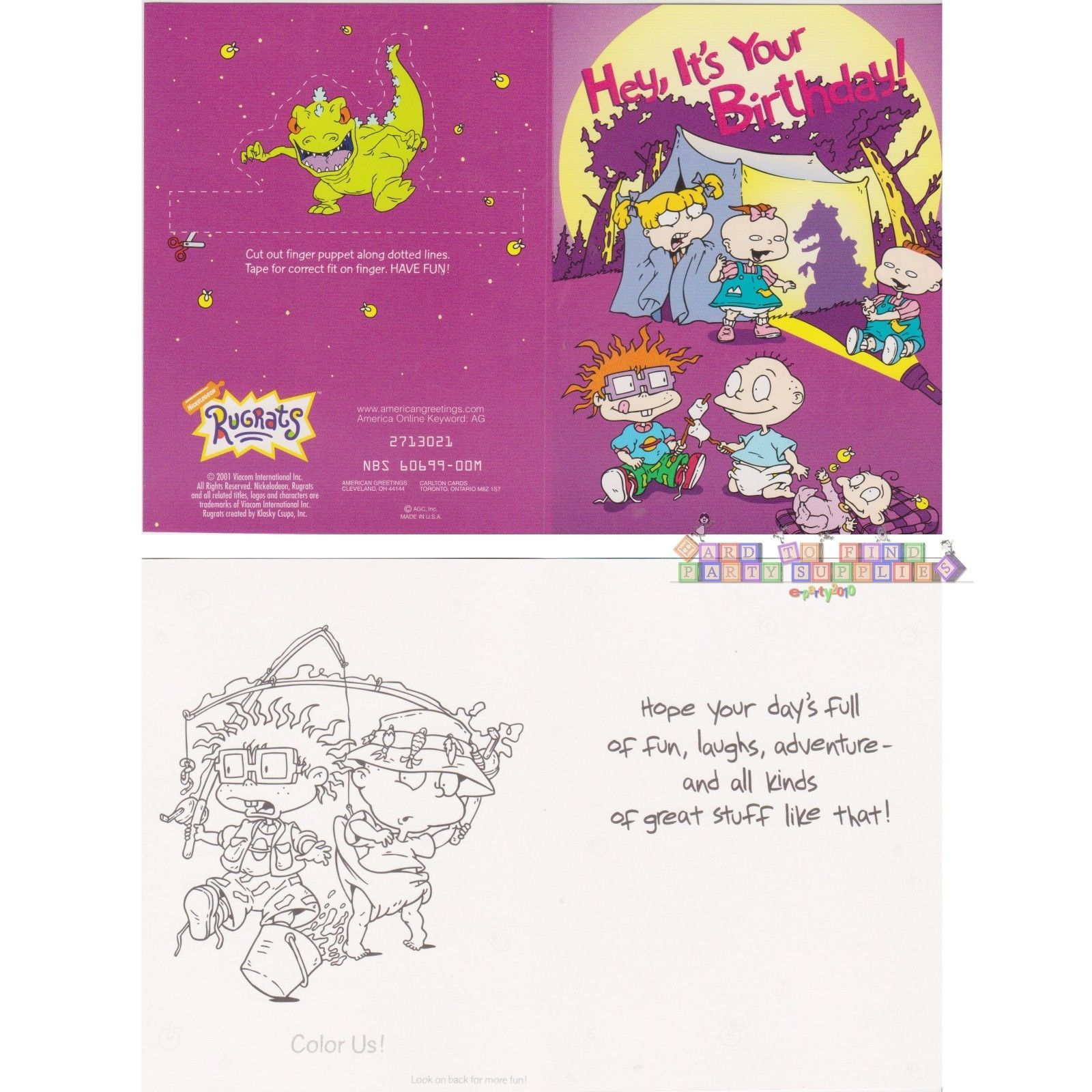 RUGRATS BIRTHDAY GREETING gift CARD SELECTION ~ Birthday Party ...