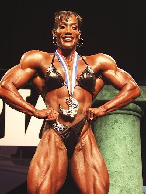 woman bodybuilder Black female muscle