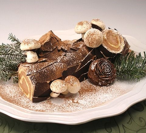 Easy recipes for chocolate log