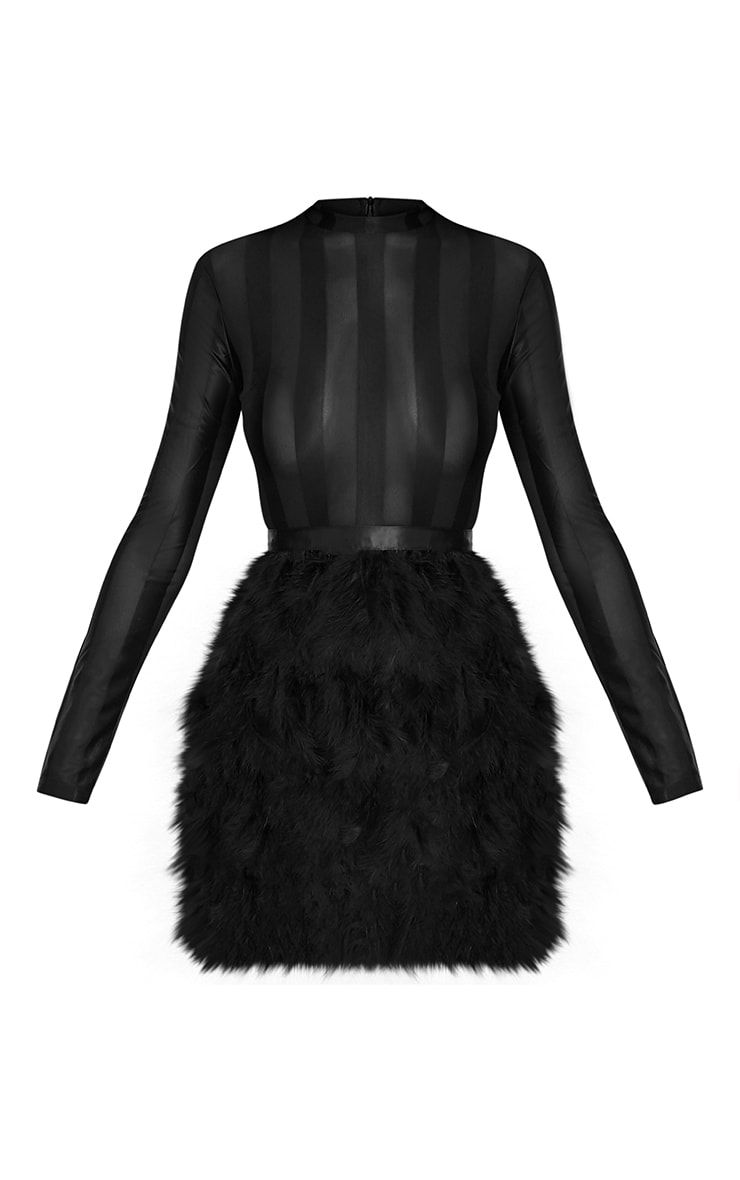 457de6bc8d6e Black Feather Skirt Bodycon DressLook super chic this party season with  this show-stopping black .