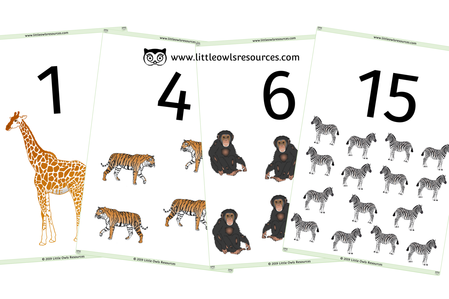 Free Zoo Animal Counting 0 20 Printable Early Years Ey