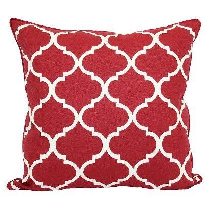 Threshold™ Oversized Lattice Pillow - Red | throw pillows ...