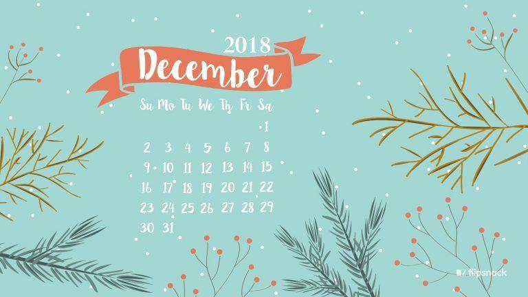 December 2018 Winter Desktop Calendar Wallpaper Desktop Wallpaper Calendar December Wallpaper Desktop Calendar