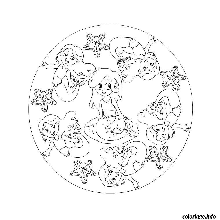 coloriage mandala facile pour enfants dessin imprimer