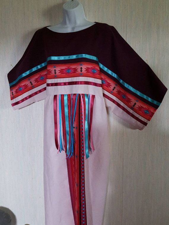 Native American Indian Ribbon Dress And Leggings By