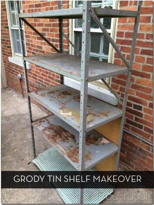 Before and After: Grody Tin Shelf Gets Pottery-Barn-Style Makeover