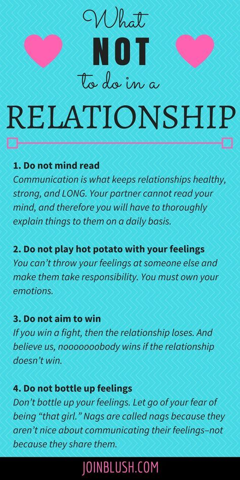 What NOT To Do in a Relationship