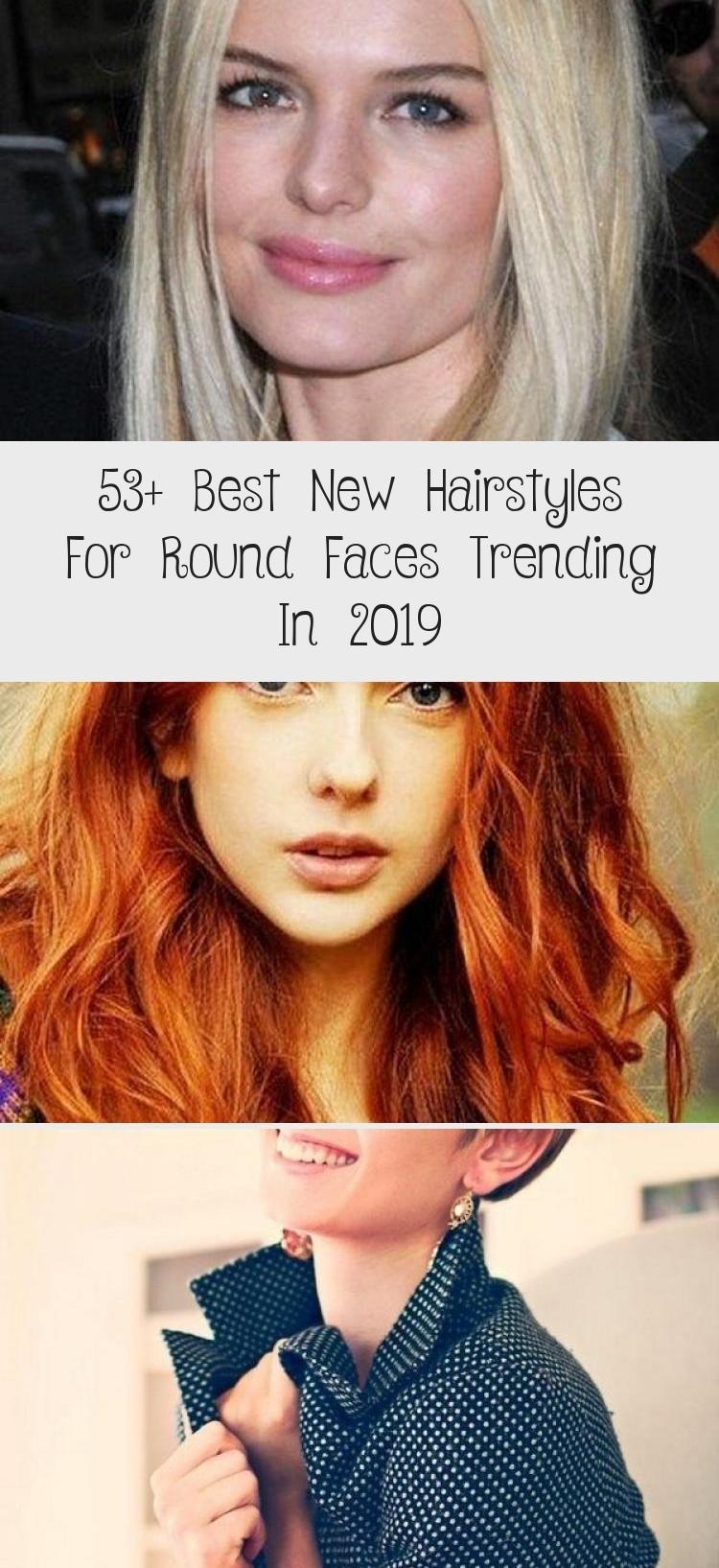 53+ Beste neue Frisuren für runde Gesichter im Trend 2019 #FancyHairstylesforroun …