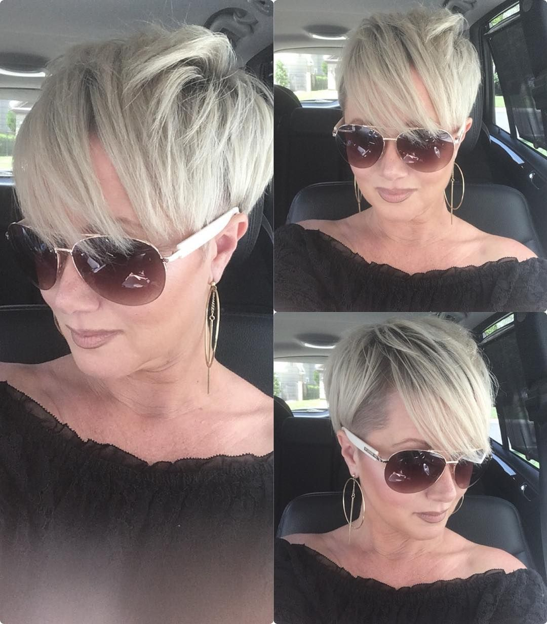 My Best Defense In This Humid Weather Is Our Setting Spray Bossbabe Shorthairstyles Over4 Short Hair Styles Thick Hair Styles Short Hairstyles For Women