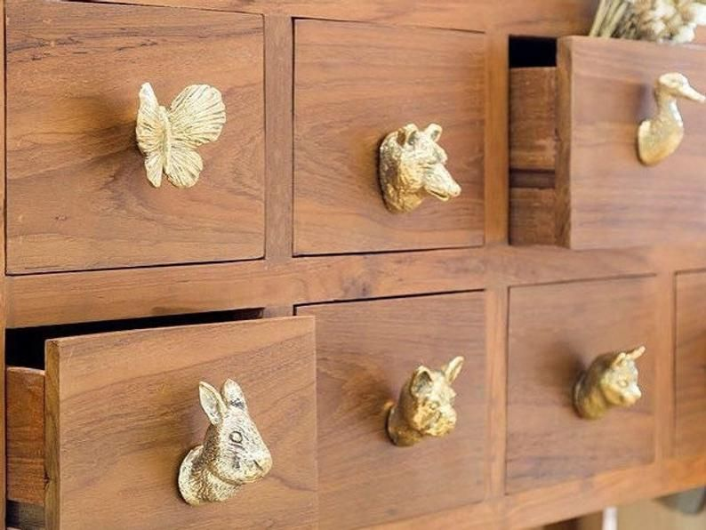 Home Hobby Craft Supplies Tools, Hand Painted Wood Cabinet Knobs