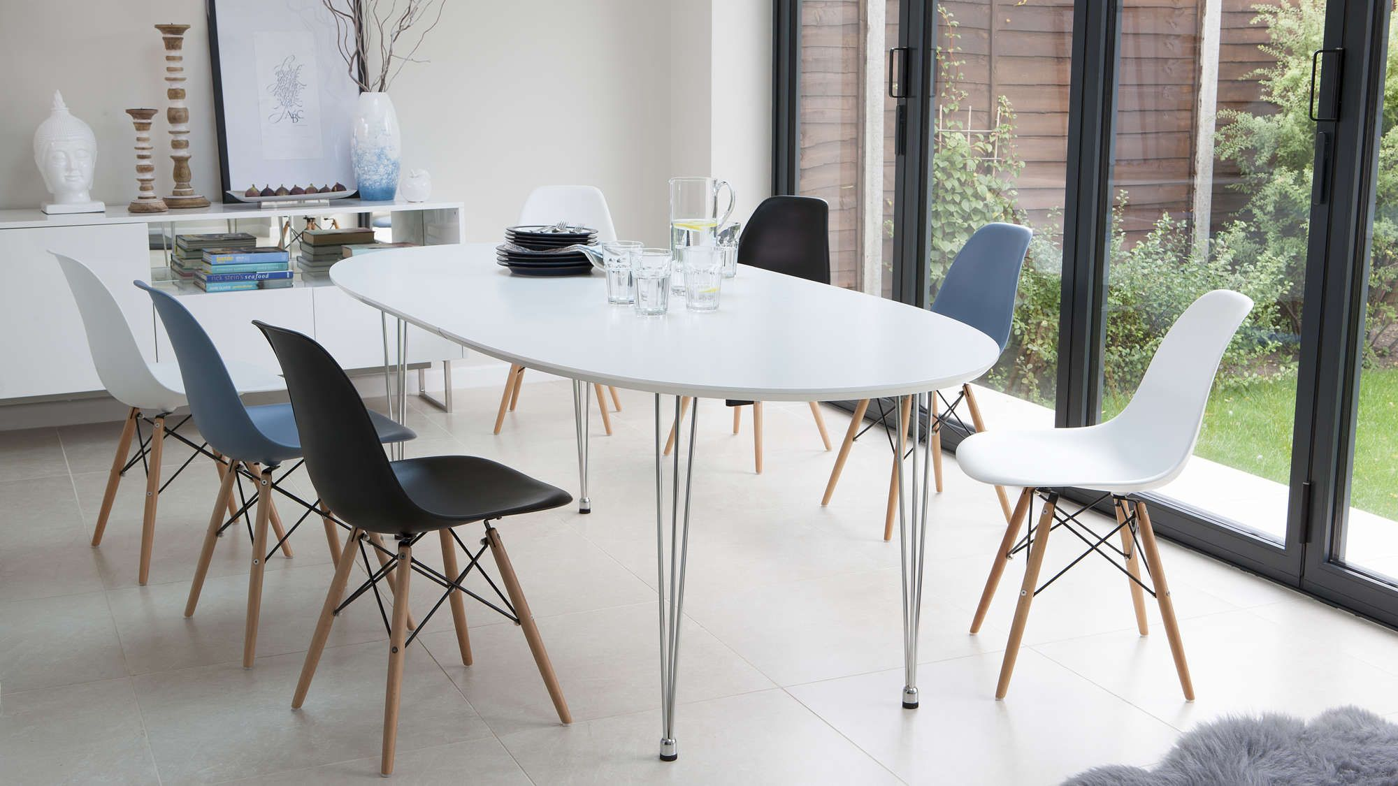 Ellie White Oval Extending Table | Dining room | Oval kitchen table ...