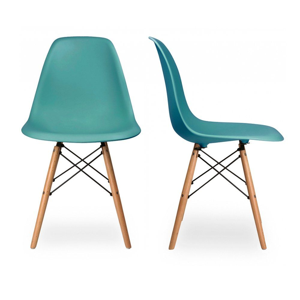 Amazing Charles Eames Set Of Two DSW Charles U0026 Ray Eames Chairs   Replica   Teal