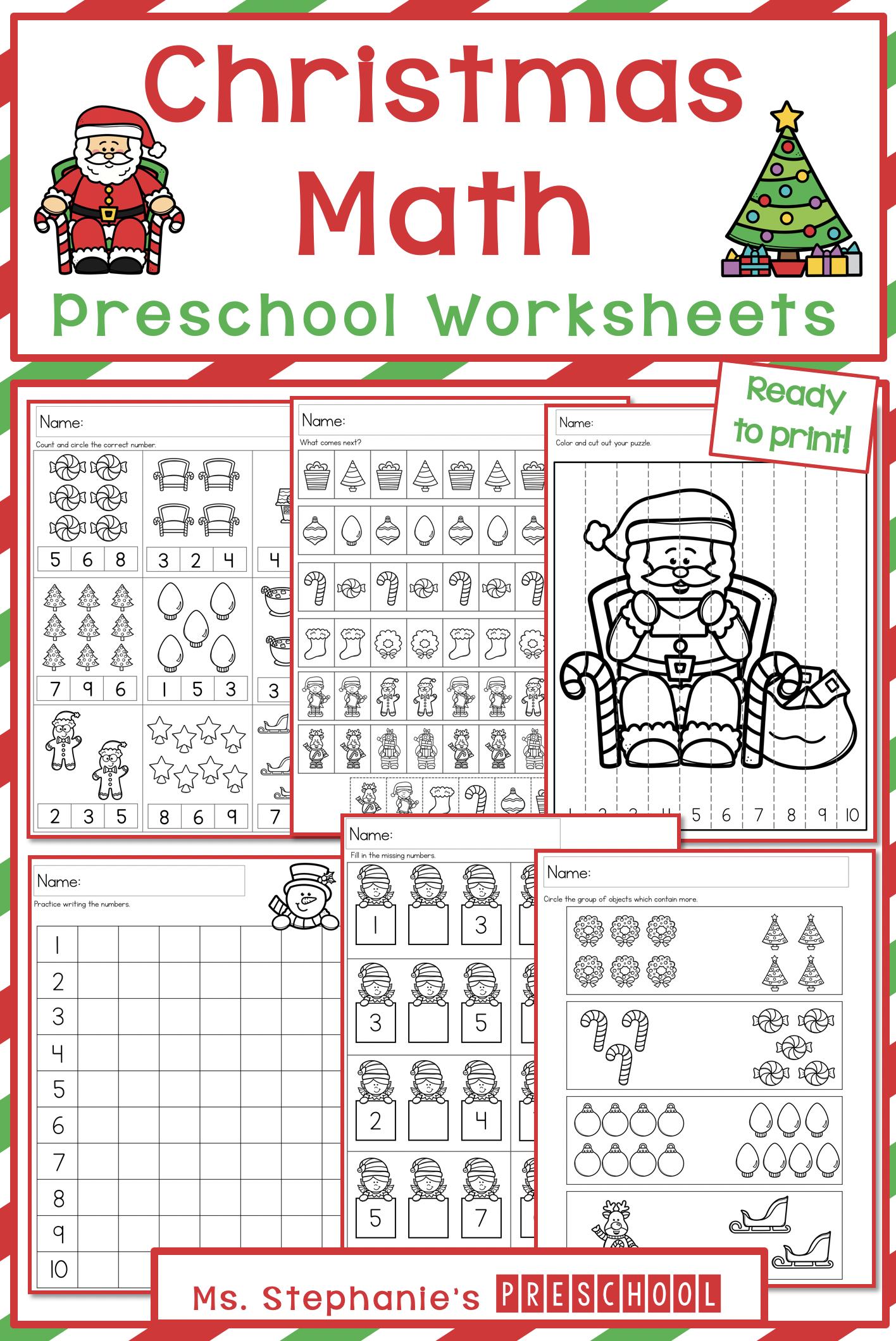 Christmas Preschool Math Worksheets Preschool Math Worksheets Math Worksheets Preschool Math [ 2120 x 1416 Pixel ]