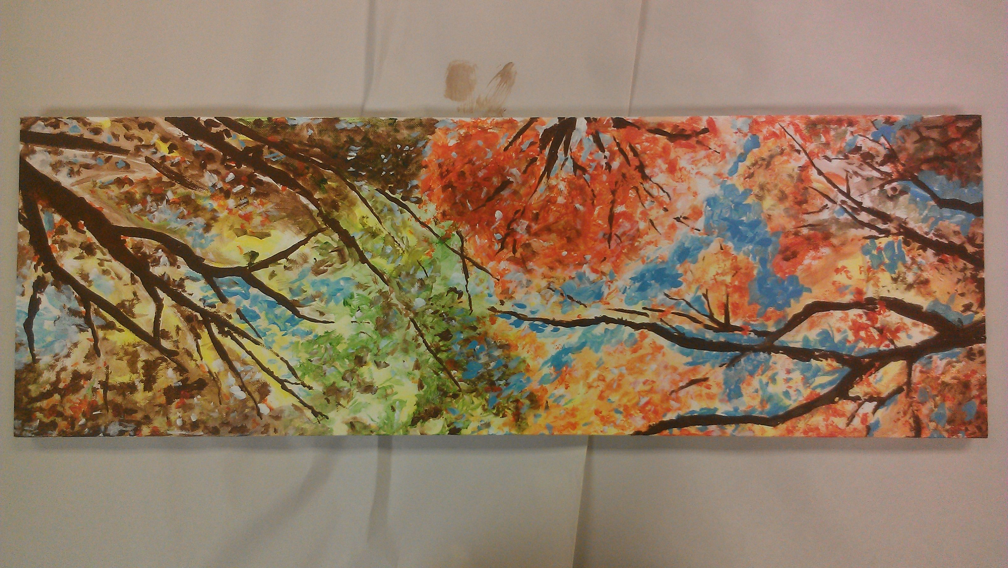 Fall Trees paintings from ButlerArtParty.com  this one is from the September 27,2012 party