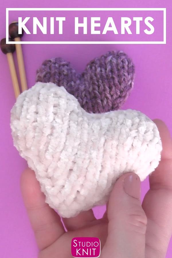 Photo of Knit Heart Softies Free Pattern